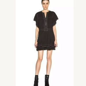 New ISABEL MARANT Ral Pleated Cotton Dress
